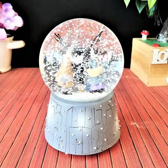 Kış masalı Orta Boy Işıklı kar Küresi (model1)