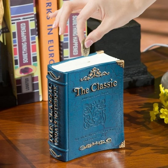 Kitap Görünümlü Dekoratif Kumbara