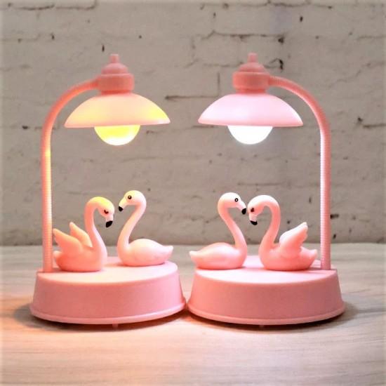 Flamingo Temalı Gece Lambası