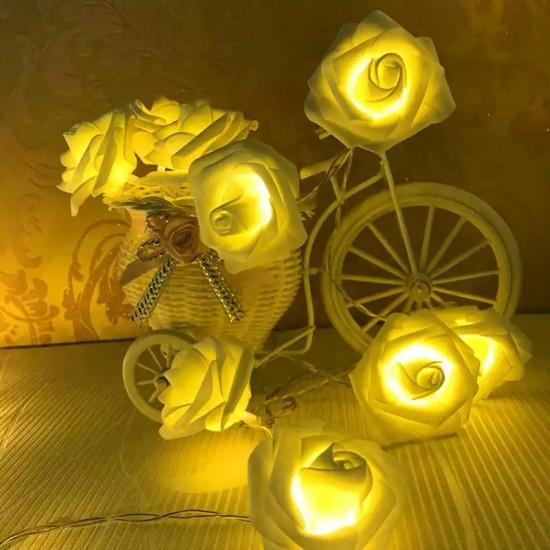 Led Işıklı Asmalı Dekoratif Gül