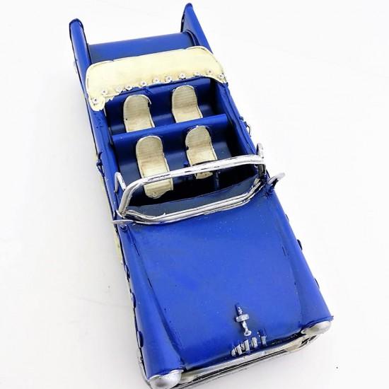 Dekoratif Eskitme Klasik Araba Mavi