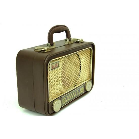 Nostaljik Radyo Şeklinde Çanta