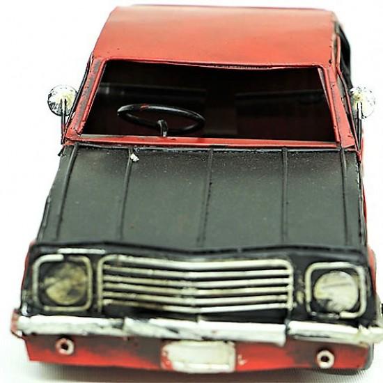 Metal Nostaljik Kırmızı Chevrolet Silverado Arabası