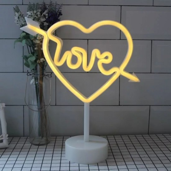 Love Tasarımlı Neon Led Masa Ve Gece Lambası