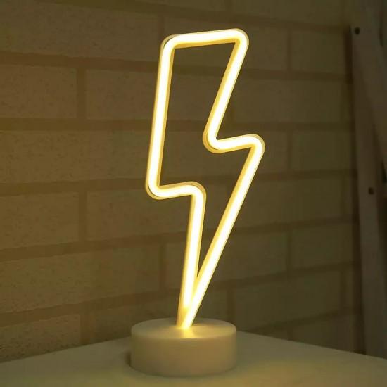Şimşek Tasarımlı Neon Led Masa Ve Gece Lambası