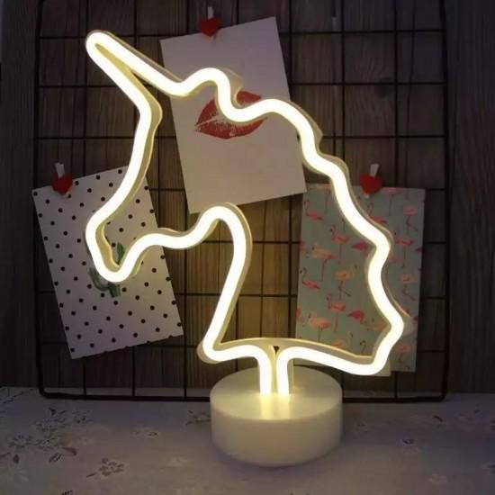 Unicorn Tasarımlı Neon Led Masa Ve Gece Lambası