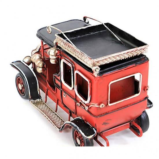 Nostaljik Çerçeveli  Jeep Dekoratif Metal  Kalemlik  Araba Kırmızı