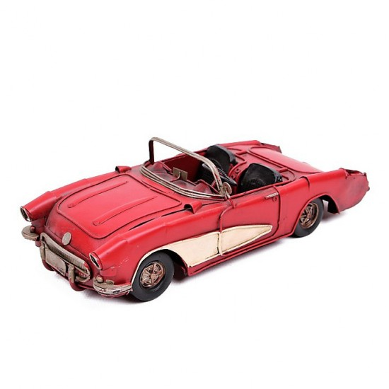 Nostaljik Chevrolet Nova Metal Araba Kırmızı