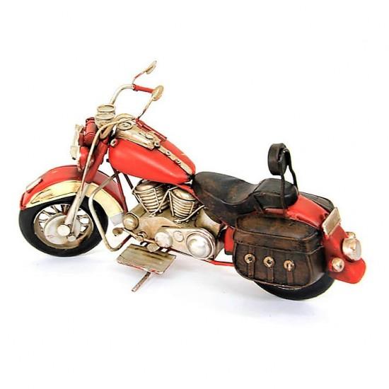 Nostaljik Chopper Motosiklet  Kırmızı