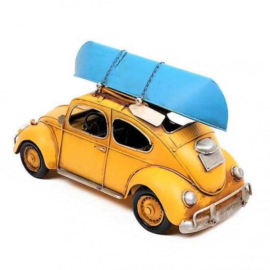 Nostaljik Dekoratif Volkswagen Kayıklı Metal Araba
