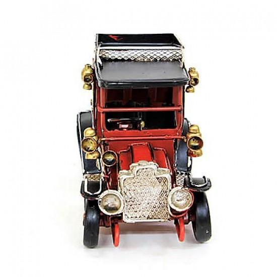 Nostaljik Jeep Dekoratif Metal  Araba Kırmızı