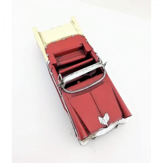 Nostaljik Metal Kırmızı Üstü Açık Chevrolet DEV BOY