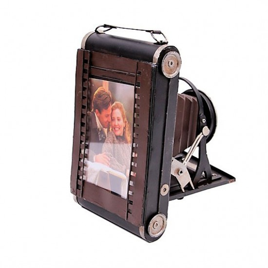 Nostaljik Metal Resim Çerçeveli Fotoğraf Makinesi Model 1