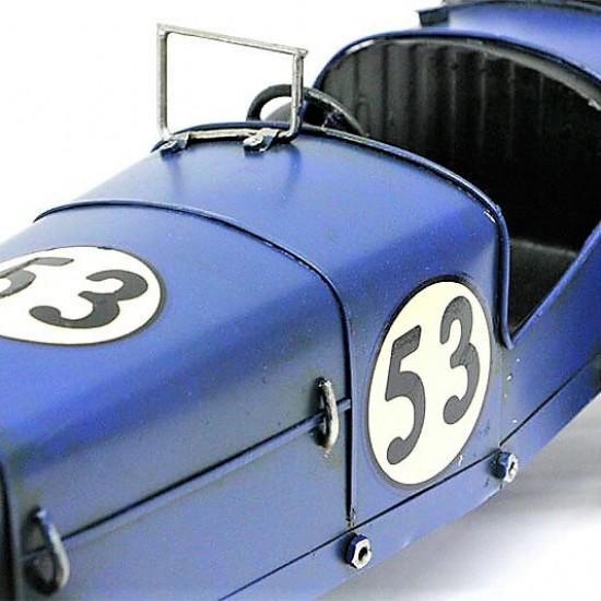 Nostaljik  Metal Yarış  Arabası Mavi