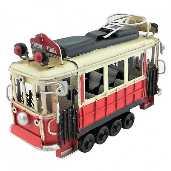 Nostaljik Dekoratif Taksim Tünel Tramvay (Orta Boy)