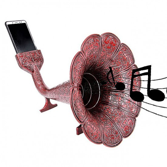 Özel Tasarım Akustik gramofon Bordo