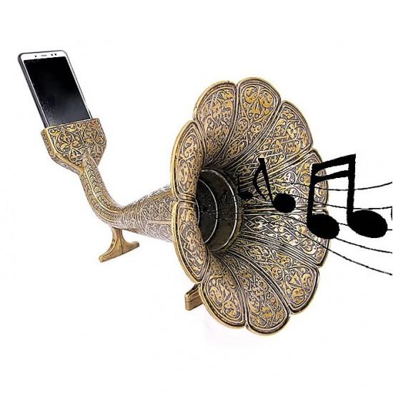 Özel Tasarım Akustik gramofon Bronz