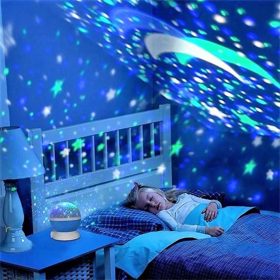 Star Master Renkli Yıldızlı Gökyüzü Projeksiyon
