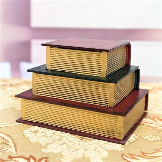 Kitap Tasarımlı Çekmeceli Takı Kutusu