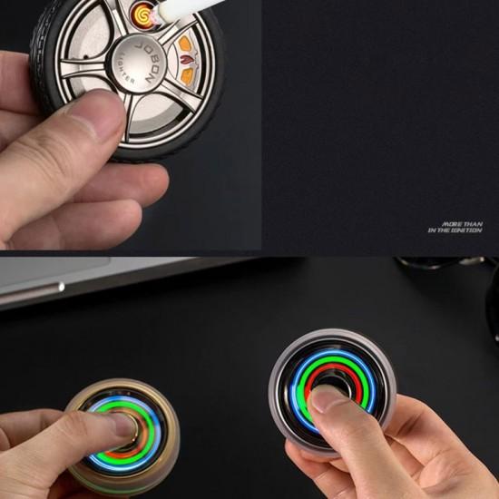 Jobon Özel Kutulu Stres Çarklı Işıklı USB Çakmak