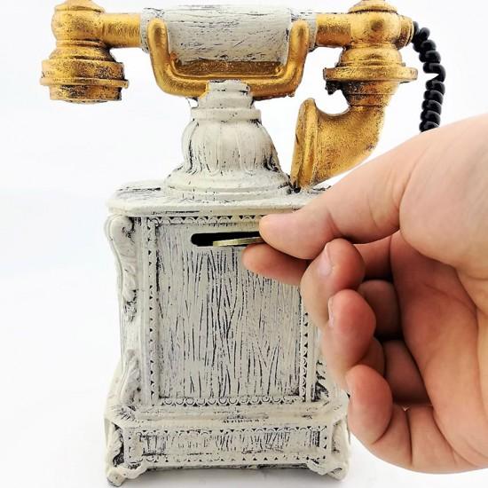 Nostaljik Telefon Görünümlü Kumbara Md2