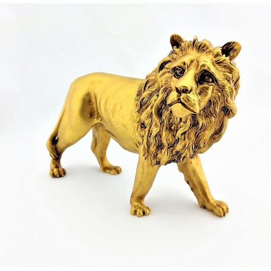 Dekoratif Aslan Tasarımlı Biblosu Gold Renk