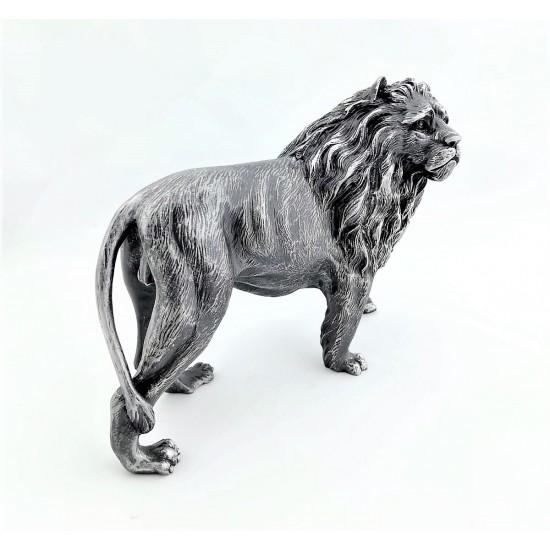 Dekoratif Aslan Tasarımlı Biblosu Siyah Renk