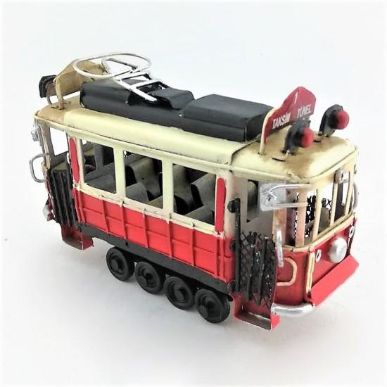 Nostaljik Dekoratif Taksim Tünel Tramvay (Küçük Boy)