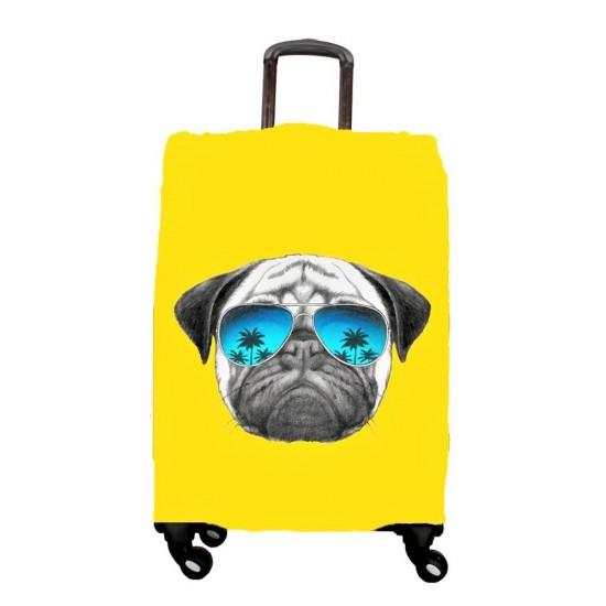 Pug Temalı My Luggage Valiz Kılıfı