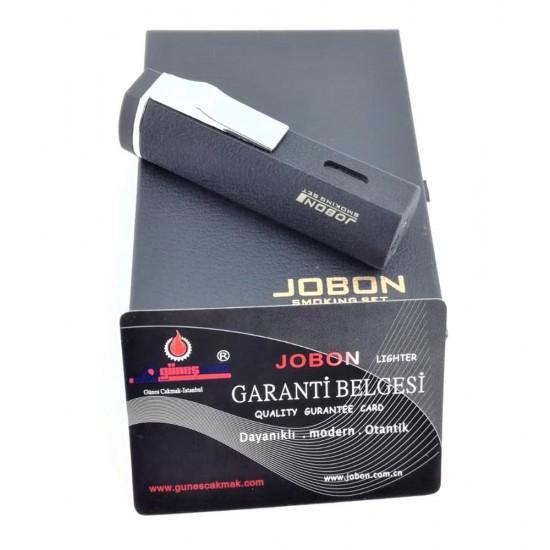 3'lü Pürmüz Alevli Jobon Marka Metal SİYAH Renkli Puro Çakmağı