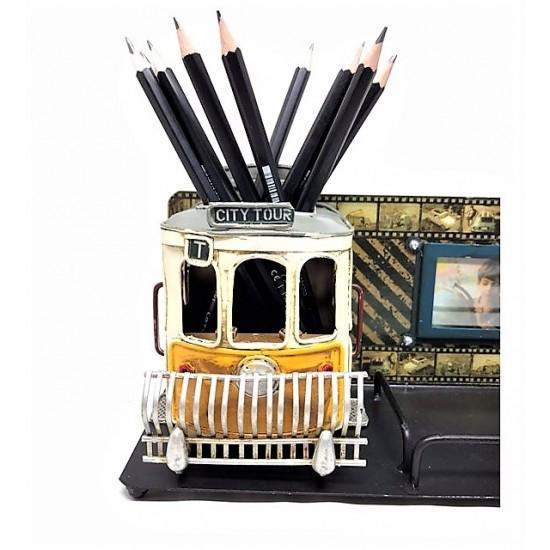 3D Tramvay Fotoğraf Çerçeveli Kalemlik
