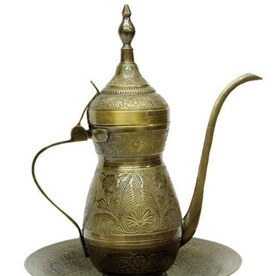 Antik Bronz Sahanlı İbrik