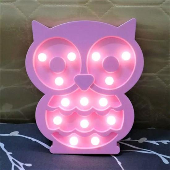 Baykuş Tasarımlı Ledli Gece Lambası
