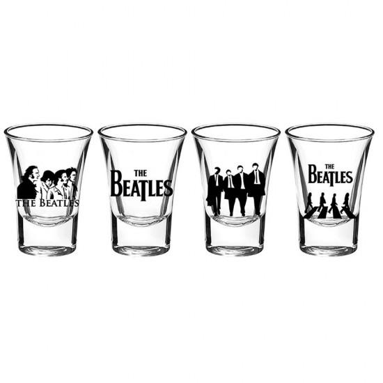 Beatles 4'lü Shot Bardak Set