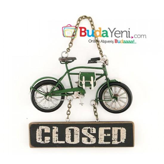 Bisiklet Tasarımlı Metal Kapı Yazısı