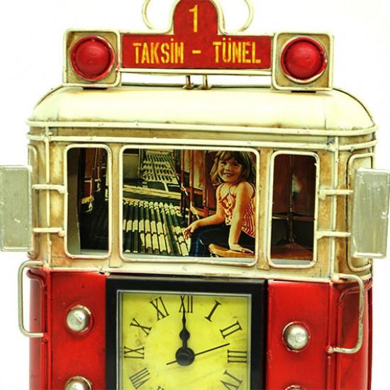 Çerçeveli Metal Taksim Tramvay Saati