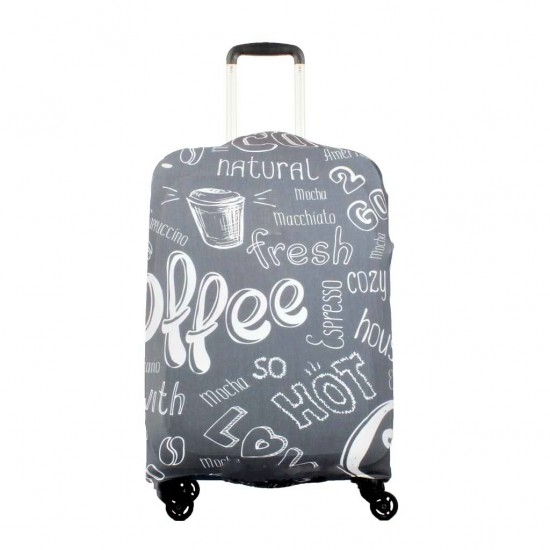 Coffe Temalı My Luggage Valiz Kılıfı