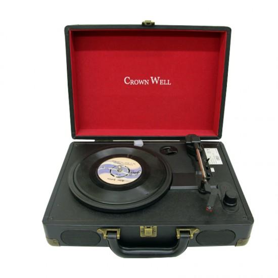 Crownwell Çantalı Elektronik Pikap Siyah