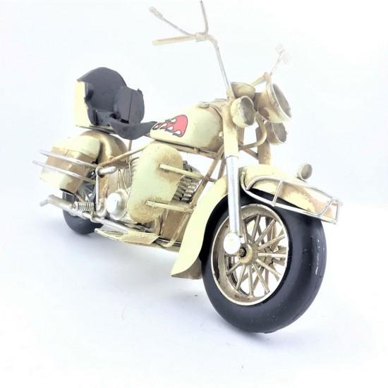 Dekoratif Cruiser Motorsiklet (Beyaz) Büyük Boy