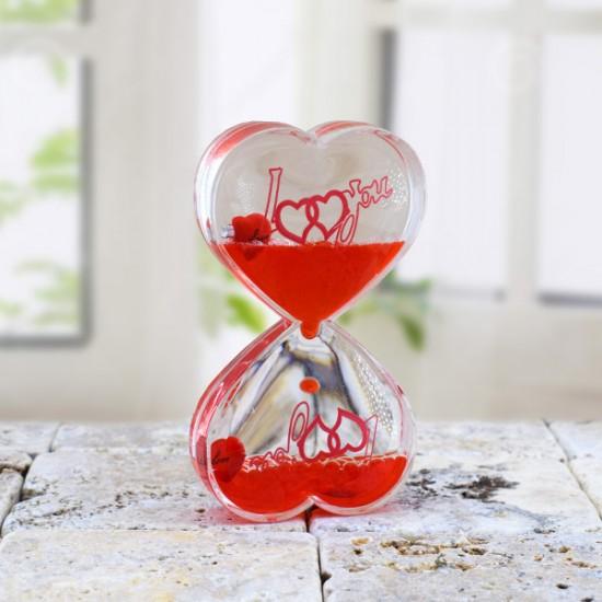 Dekoratif Kalp Şeklinde Aşk Jel Kum Saati