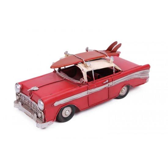 Dekoratif Metal Araba Chevrolet Kırmızı