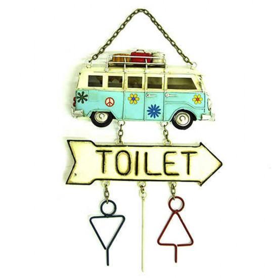 Dekoratif Metal Kapı Yazısı Minibüs Toilet Yön