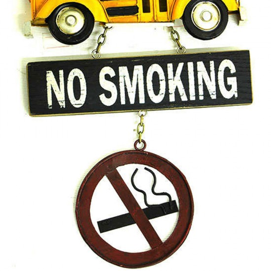 Dekoratif Metal Kapı Yazısı Okul Otobüsü / No Smoking