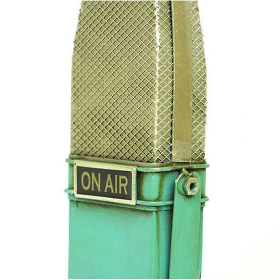 Dekoratif Metal Mikrofon Yeşil