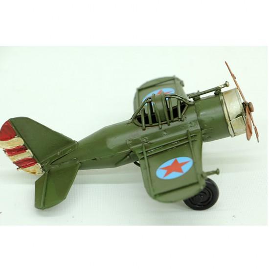 Dekoratif Metal Yeşil Keşif Uçak