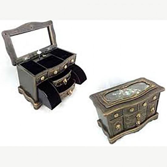 Dekoratif Minyatür Komidin, Müzik kutusu ve Takı Kutusu