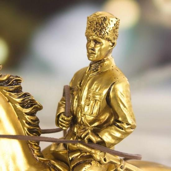Dekoratif Mustafa Kemal Atatürk Tasarımlı Biblo Gold Renk