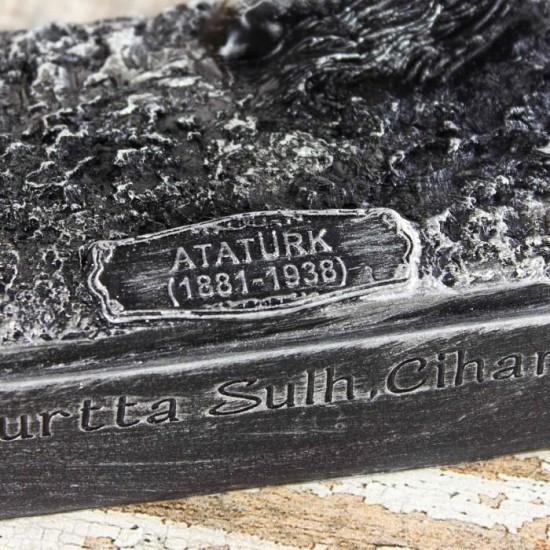 Dekoratif Mustafa Kemal Atatürk Tasarımlı Biblo Siyah