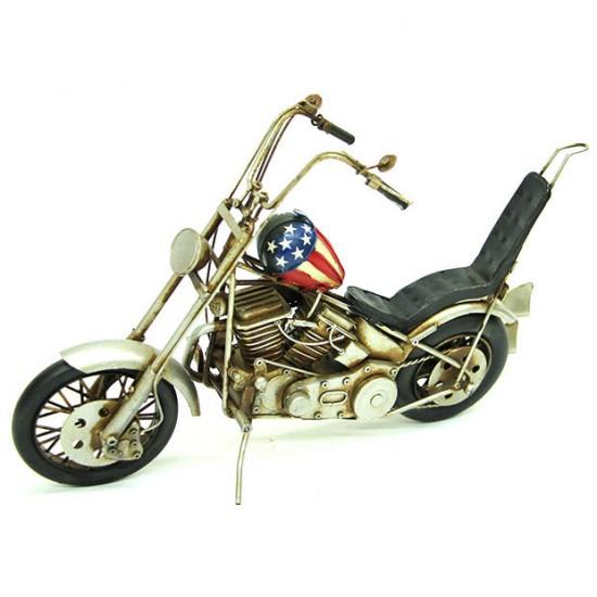 Dekoratif Nostaljik Chopper Metal Motosiklet
