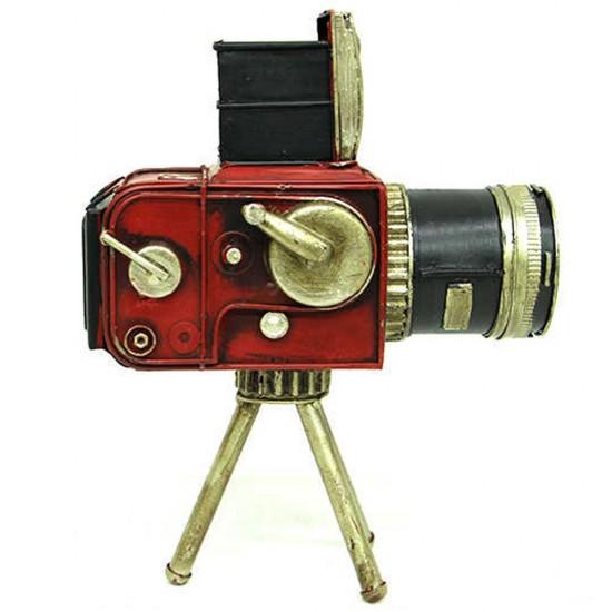Dekoratif Nostaljik Metal Kamera